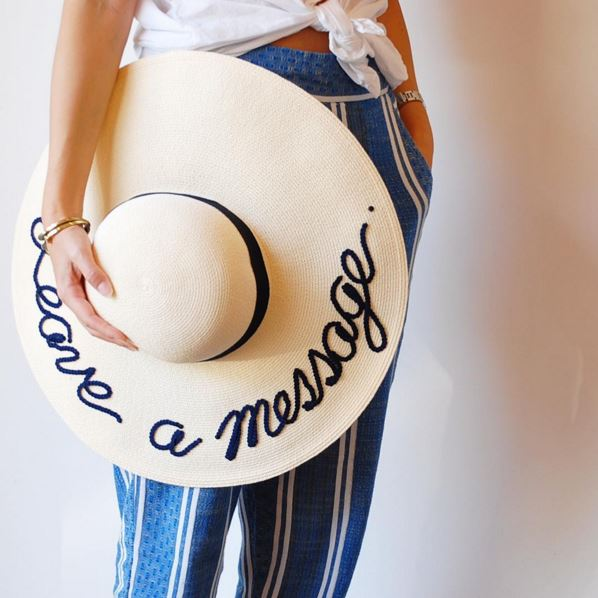 slogan straw hat
