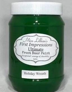 Front Door Paint - Holiday Wreath