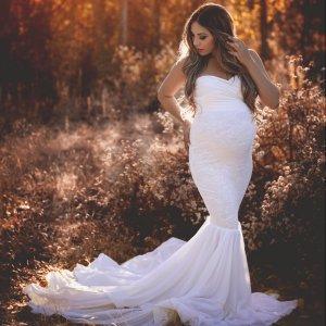 baby shower gowns, chiffon dress, london lace tiered chiffon maternity gown