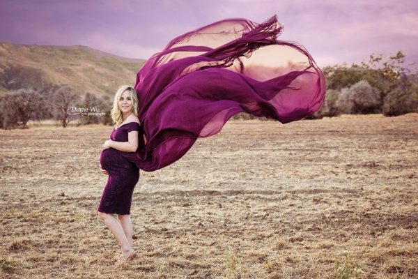 open belly maternity dress, Chiffon maternity gown for photography, jersey knit, lace, off the shoulder cap sleeves