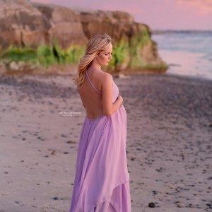 Chiffon, jersey knit, lace, maternity dress photography, baby shower dress, maternity gown photoshoot