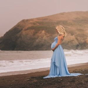 Baby Shower Dress, Maternity Dress for Photoshoot, Maternity Gown photography, Mermaid Dress, Lace, Chiffon, jersey knit
