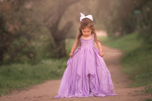 boho chiffon girls dress, girls flower girl dress, junior bridesmaid dress, milestone dress, photography dress