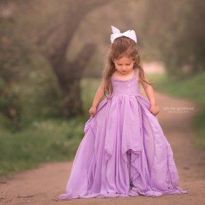 boho chiffon girls dress, girls flower girl dress, junior bridesmaid dress, milestone dress, photography dress