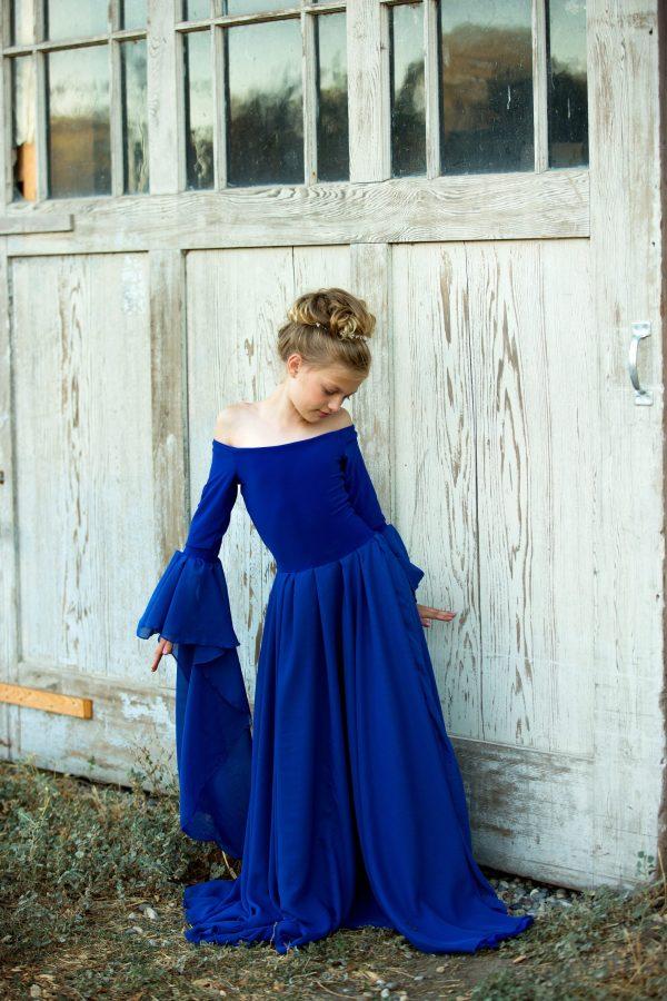 girls renaissance gown, girls long sleeve dress, flower girl, mommy and me, girls long dress