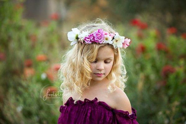 pink ladies flower crown, girls flower crown, girls accessory