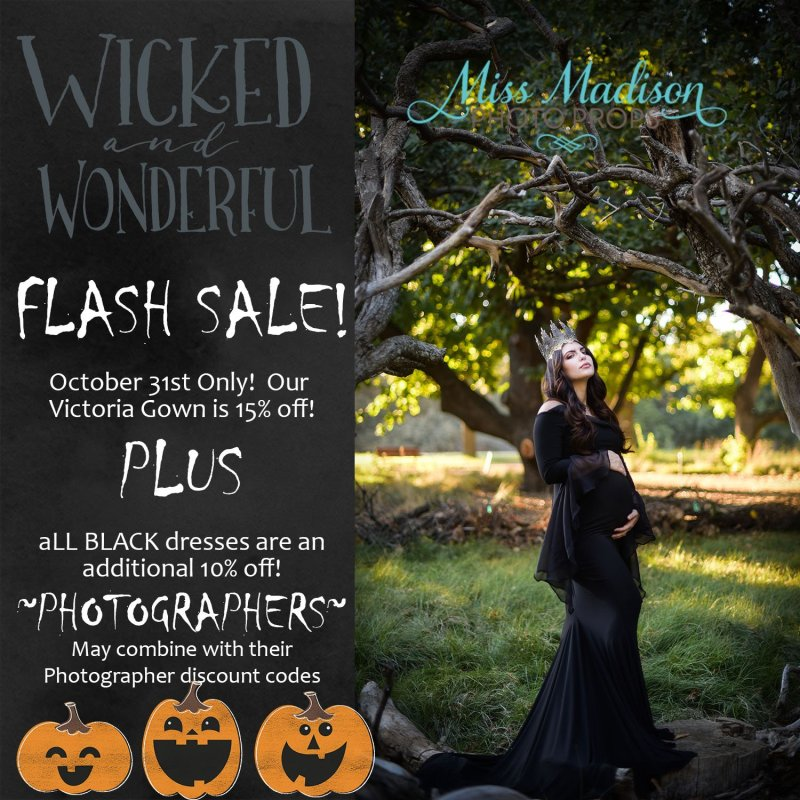 It's Wonderfully Wicked! We're Having a Flash Sale on our Victoria Gown!