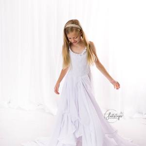 layered chiffon girls dress, girls layered chiffon dress, flower girl, junior bridesmaid, birthday, formal girls gown