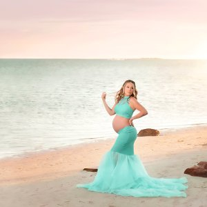 mermaid maternity skirt, mermaid maternity separate sert, high neck halter, beach maternity shoot, maternity skirt, photography, photoshoot, baby shower