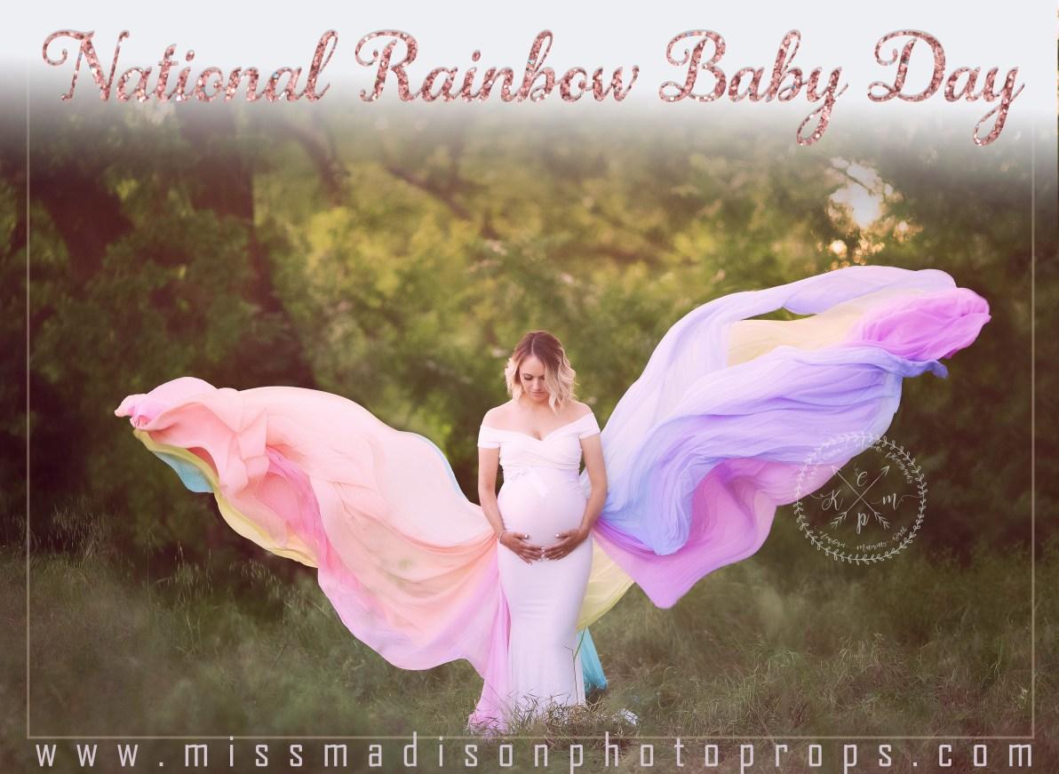 rainbow baby, rainbow maternity dress, rainbow maternity train, maternity gown photography