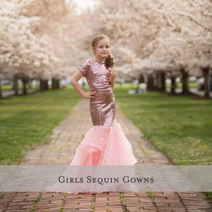 Girls Sequin Gowns