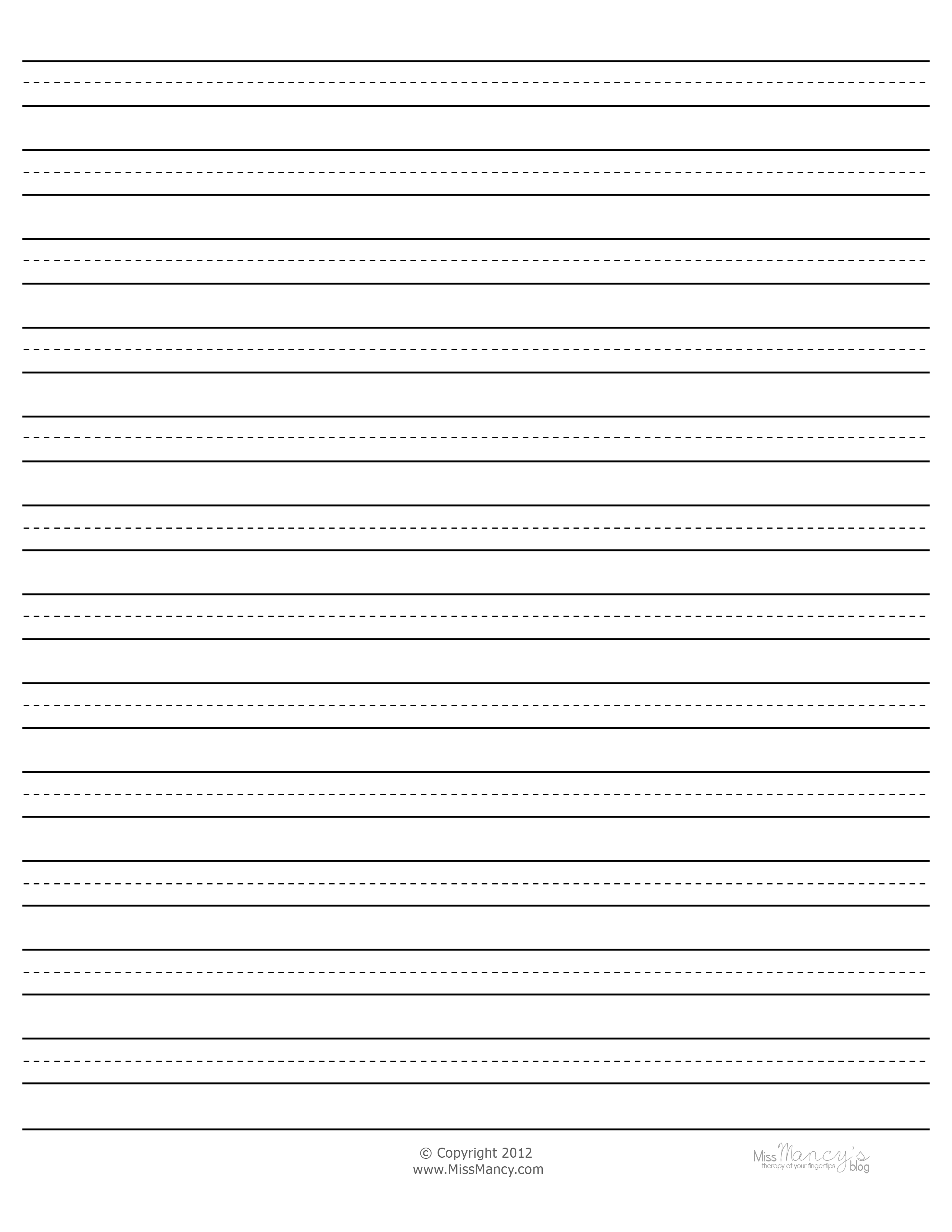 Cursive Writing Paper Blank Blank Cursive Writing Paper