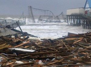 Seaside Heights Roller Coaster After Sandy by Brian Thompson