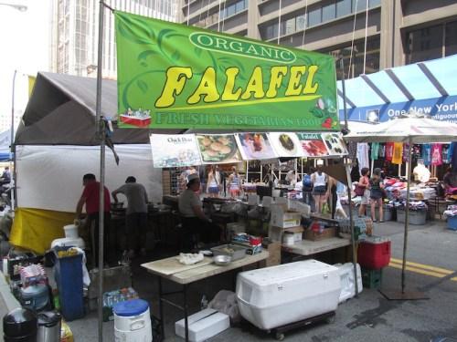 Organic Falafel Stand - NYC Street Fair - 9-1-12