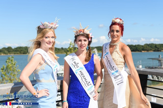 Miss Mermaid France 2019 Julie et ses dauphines