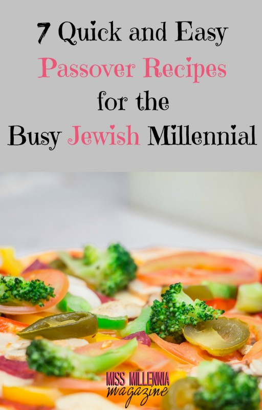 I've compiled some of the best, quickest, Kosher Passover recipes; one for each day of Passover if you are a busy Jewish millennial on the go.