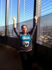 Me at the top of the San Antonio tower climb