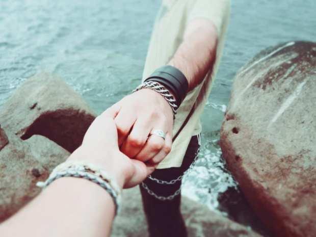 people holding hands representing lenten resolutions
