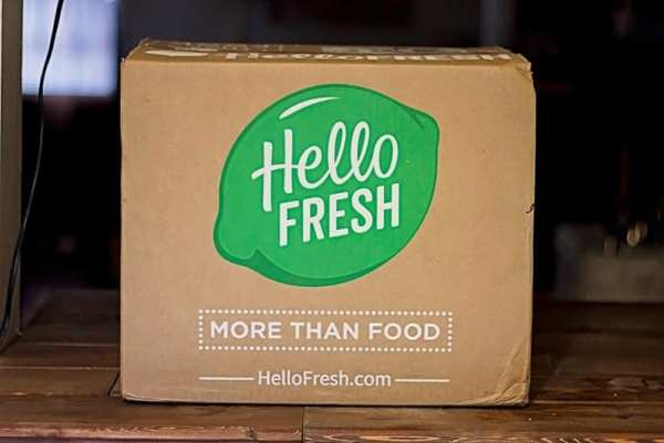 HelloFresh box sitting on table to help cooking skills