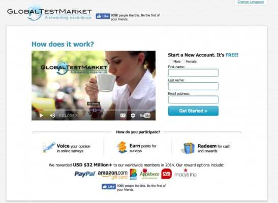 global test market survey sites