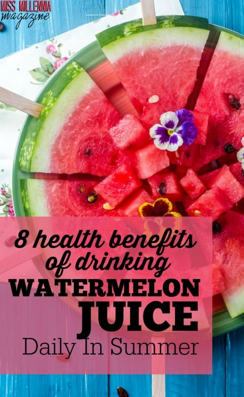 "Watermelon is one of the many food choices that are considered to be a ""superfood"". Here are 8 health benefits of drinking watermelon juice daily."