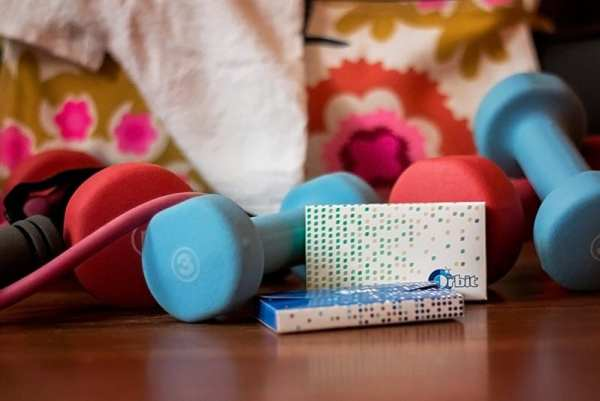 gym equipment and gum showing New Year's resolution