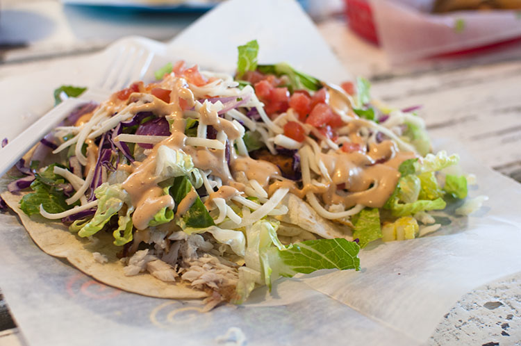 Cali 'n Tito's review featured by top Atlanta blogger, Miss Molly Moon: image of Fish Tacos from Cali 'n Tito's