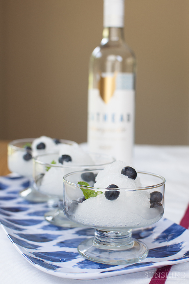 Boozy Lemonade Granita
