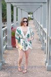 A palm print romper from Entourage Clothing.
