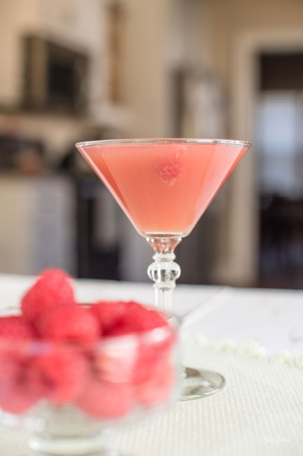 Sunrise Martini Cocktail Recipe featured by top US food blogger, Miss Molly Moon