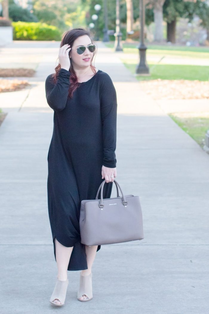 Black Maxi Dress for Date Night