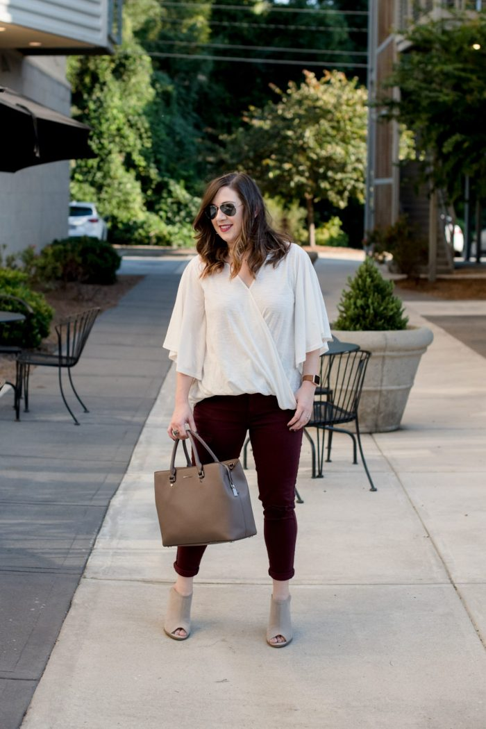 Flutter Sleeves and Fall-Colored Denim