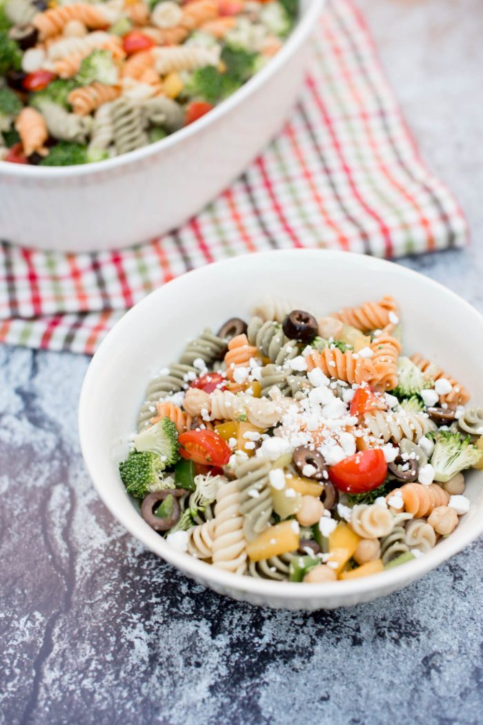 Veggie Pasta Salad with Goat Cheese