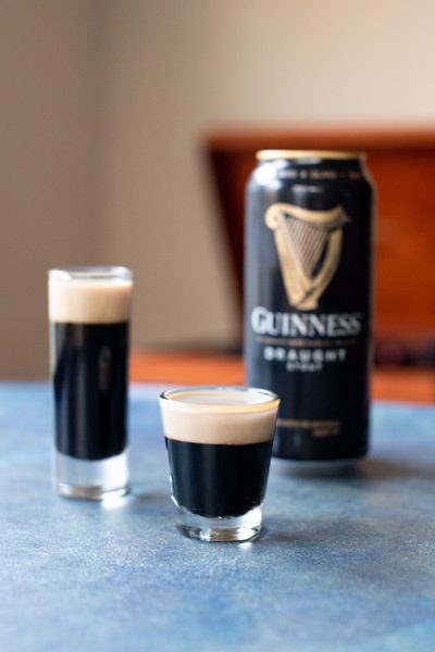 Easy St Patricks Day Cocktails featured by top US foodie blog, Miss Molly Moon: Baby Guinness