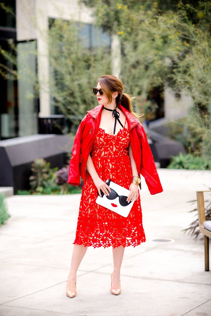 Red Lace Dress for Valentines Day