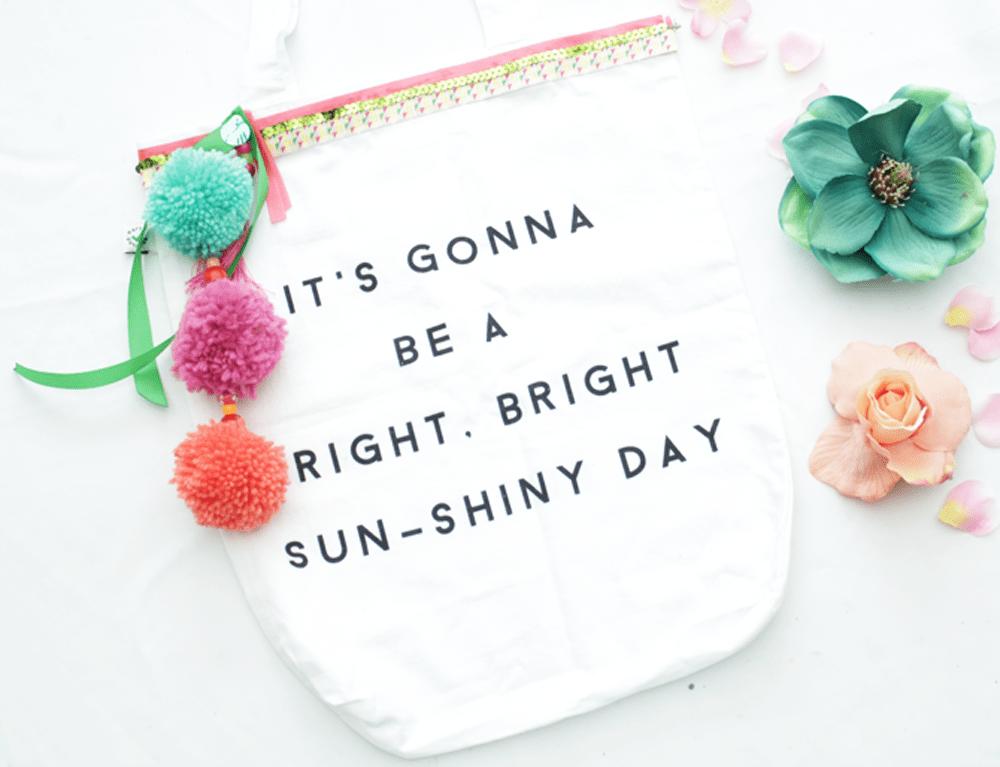 DIY | happy quote tote