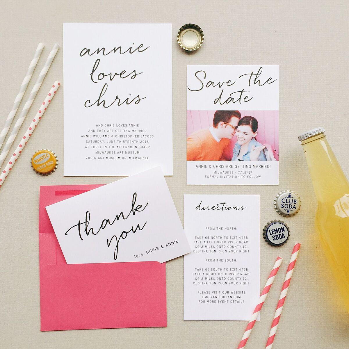 Wedding Invitation Planning Featuring Basic Invite - Miss Olivia Says