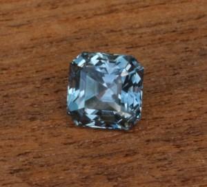 Assher Cut Montana Sapphire