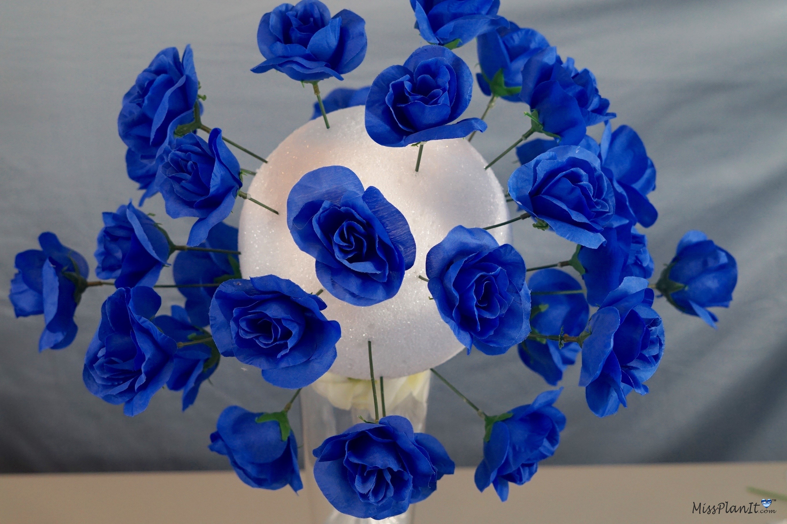 Blue Beauty Diy Tall Wedding Centerpiece