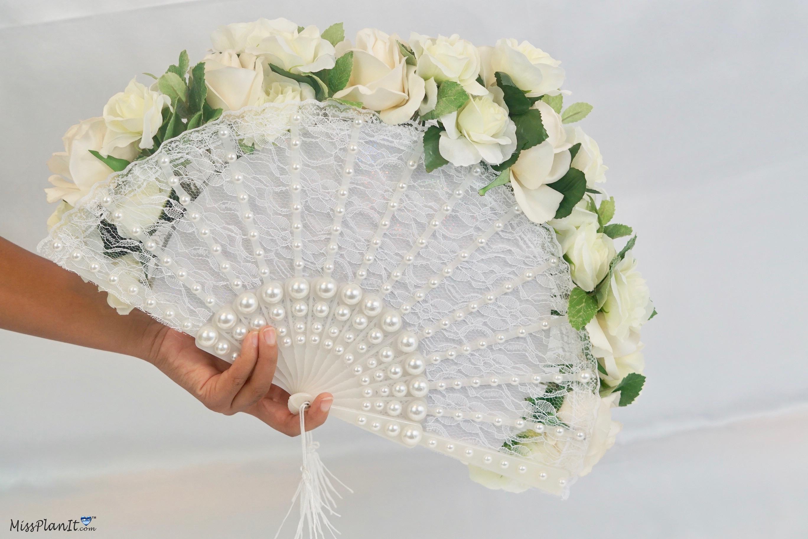 Dollar tree flowers simply splendid southern belle diy fan wedding fan wedding bouquet izmirmasajfo