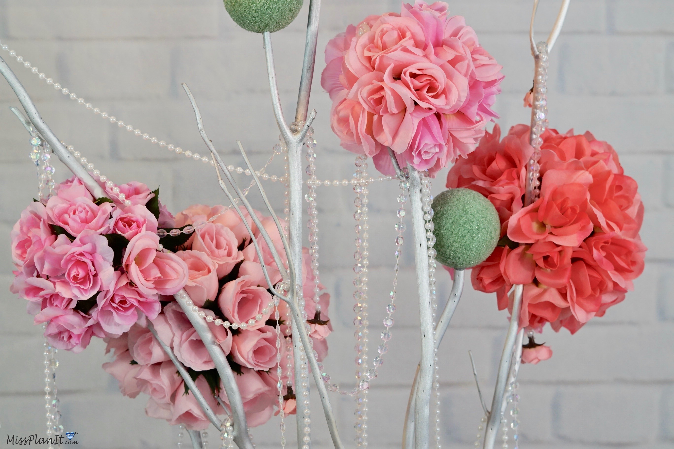 Easy to Make Rose Blossom Tree Wedding Centerpiece with Dollar Tree ...