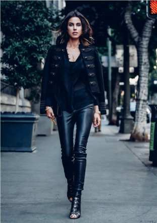 2. leather trousers with band jacket - 9 Chic Night Out Outfits Ideas