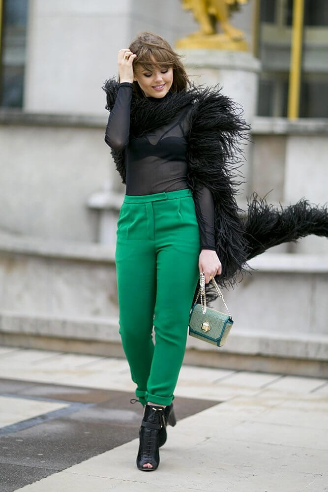 2. www.flare .com  - 6 Shades of Green: How to Wear Green Pants to Create Stylish Outfits