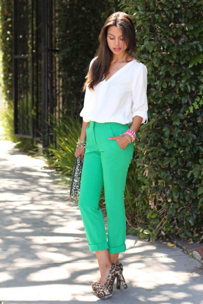 6. www.thevivaluxury.com  - 6 Shades of Green: How to Wear Green Pants to Create Stylish Outfits