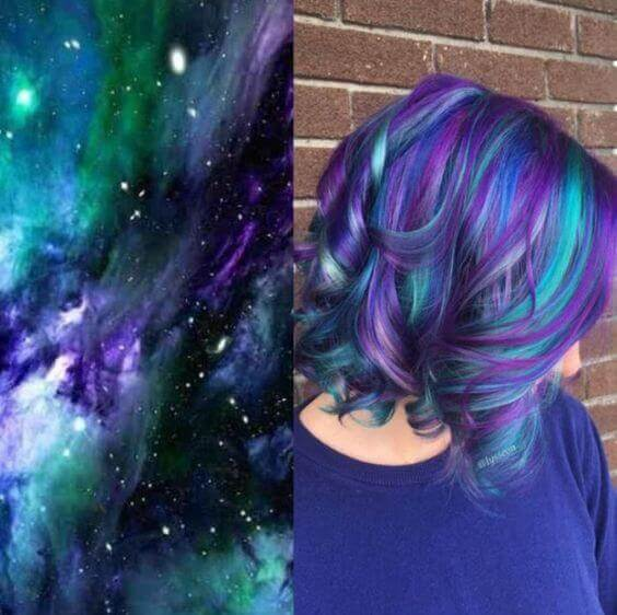 galaxy hair style pixie cut - Galaxy Hair: How to Do It At Home and Amazing Hairstyles You Need to Try