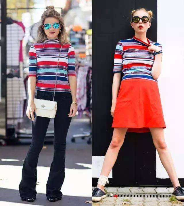 Multicolored Striped Clothing Outfits