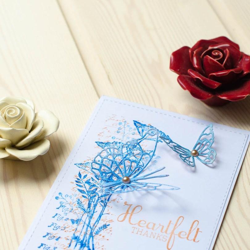 "Kort ""Heartfelt thanks"""