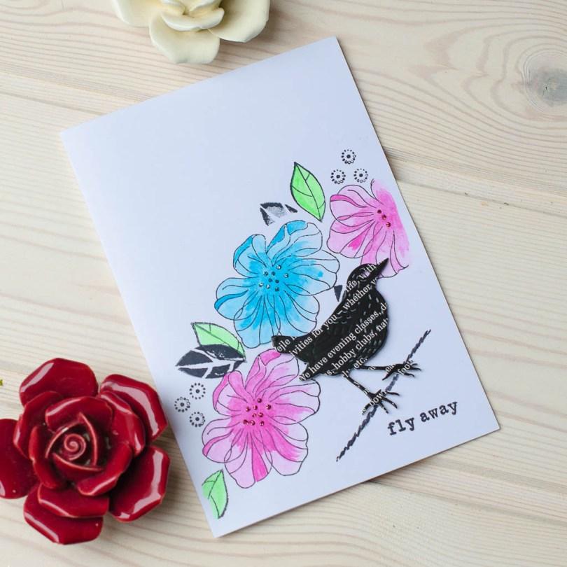 """MissQ kort """"Fly away"""""""