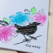 "MissQ kort ""Fly away"""