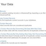 Screenshot Infusionsoft | Your Data